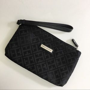 Tommy Hilfiger black wristlet with zipper